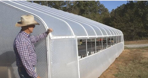 Drop Down Curtain Noble Research Instutute Greenhouse Oklahoma