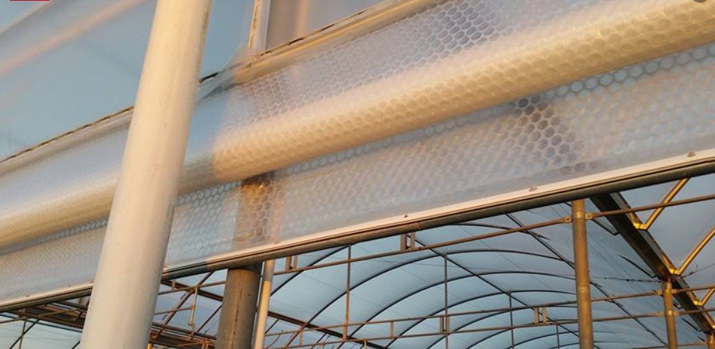 Greenhouse Cover roll up side wall SolaWrap