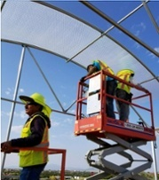 Greenhouse Plastic SolaWrap Install New Mexico 2