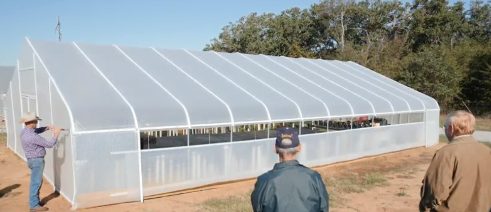 Greenhouse by SolaWrap Noble Research Institute