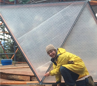 SolaWrap Geodesic greenhouse