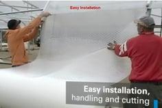 SolaWrap Greenhouse Plastic Installation