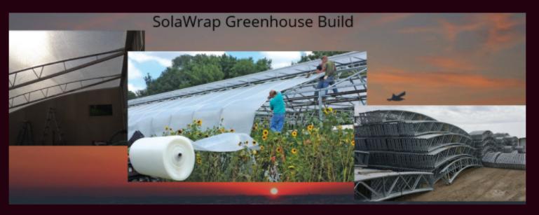 Solawrap Greenhouse Build