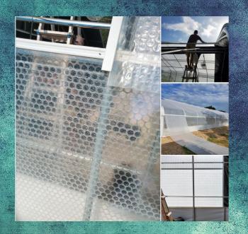 Greenhouse Plastic Install SolaWrap